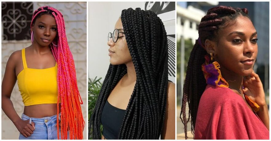 Best Big Box Braid Hairstyles