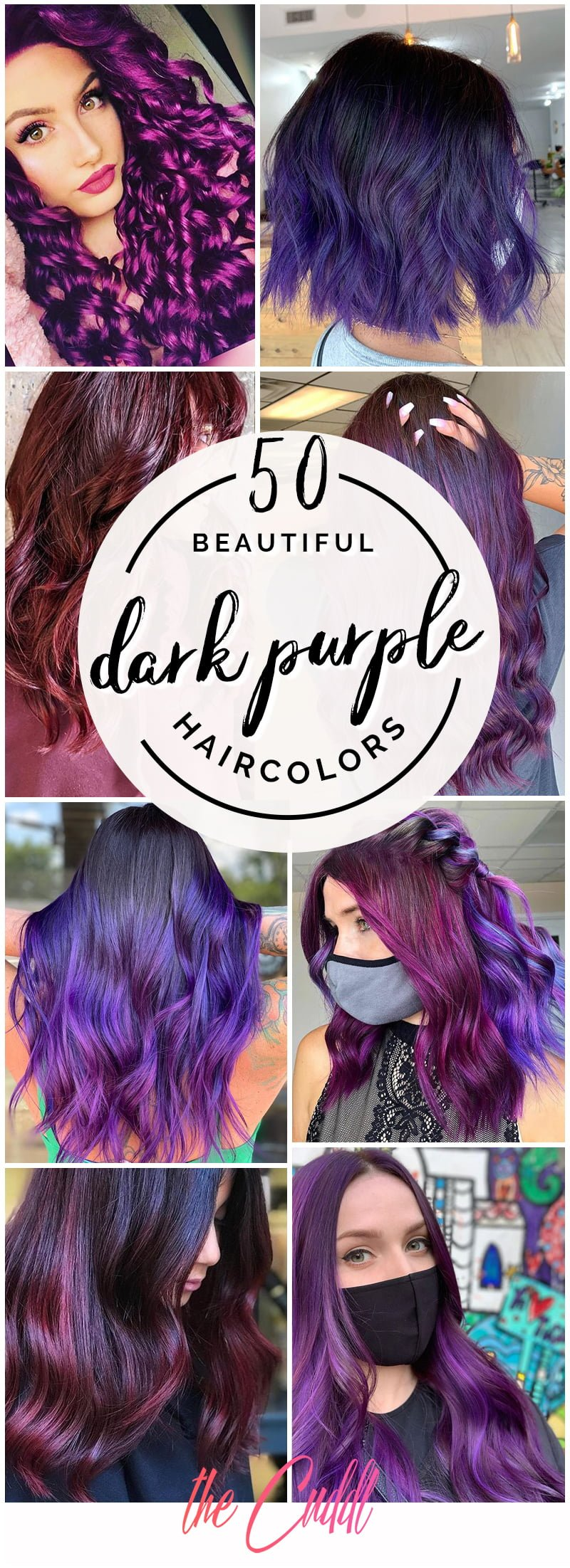 Best Dark Purple Hair Color Ideas