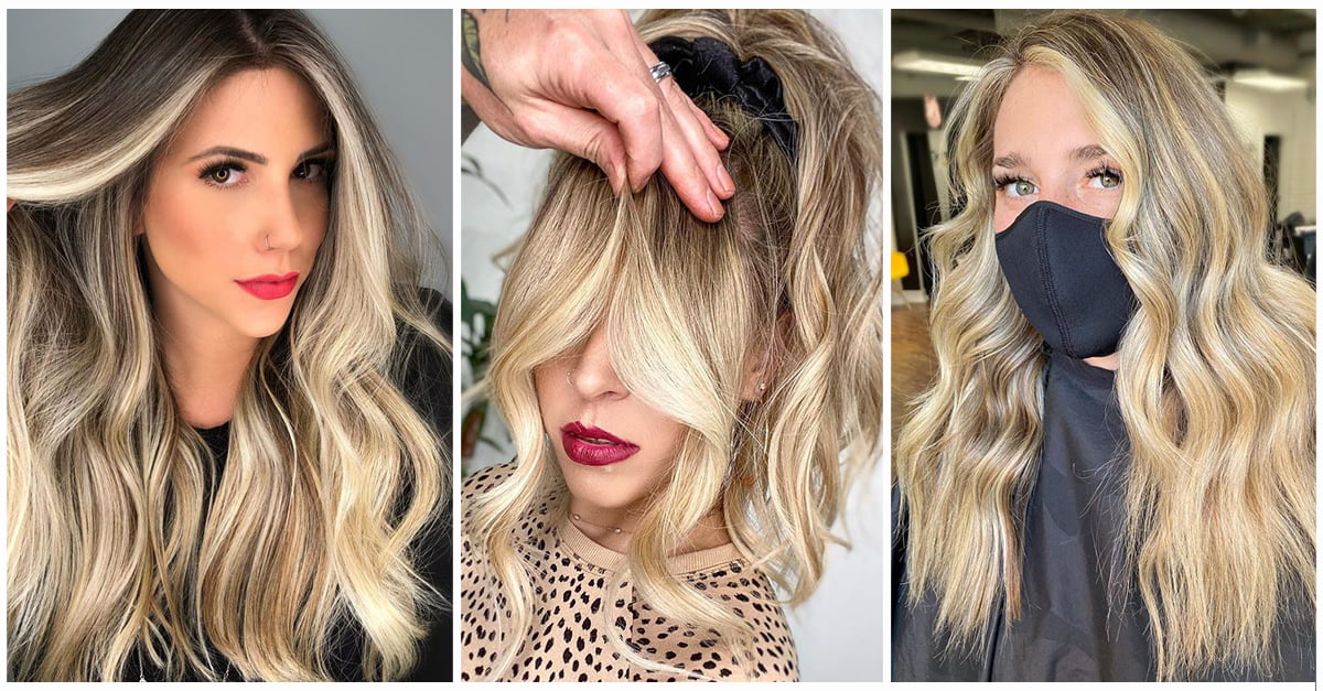 50 Bombshell Blonde Balayage Hairstyles That Are Cute And Easy For 2020
