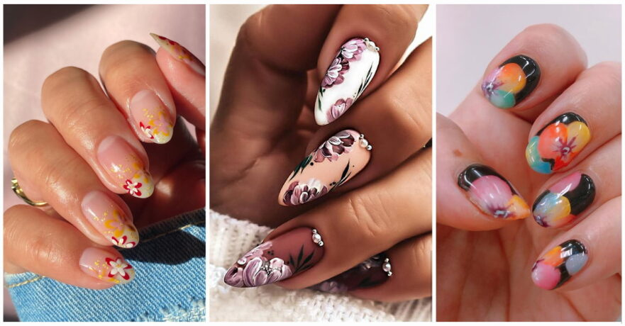 50+ Cool Flower Nail Design Ideas to Spice Up Your Look