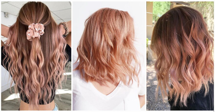 49+ Irresistible Rose Gold Hair Color Looks That Prove You Can Pull Off This Trend