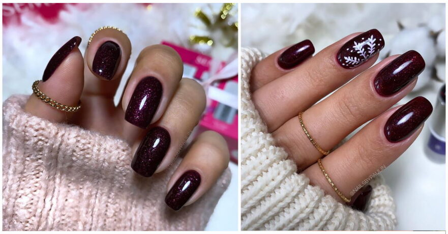 43+ Sultry Burgundy Nail Ideas to Bring out Your Inner Sexy