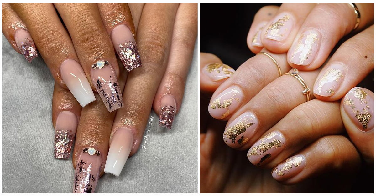47+ Glamorous Foil Nails to make Nails the Perfect Accessory