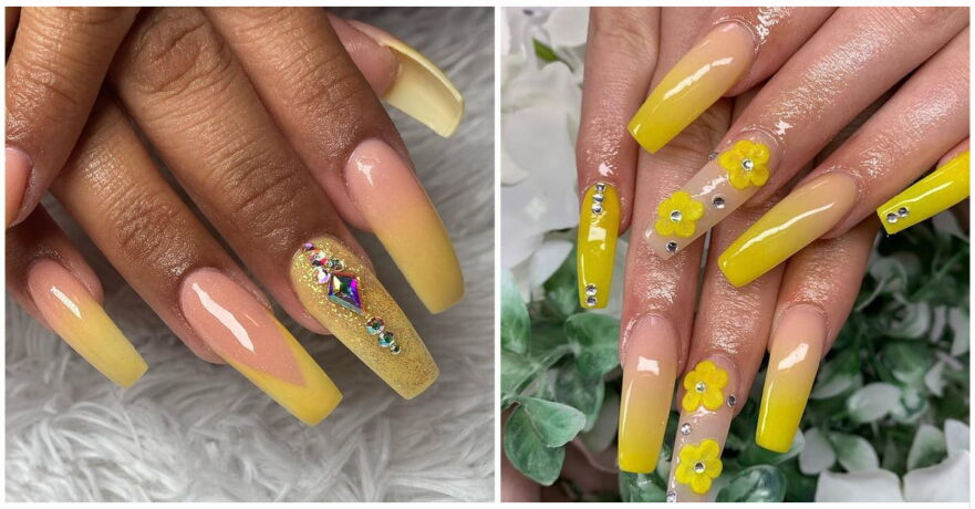 50+ Gorgeous Yellow Acrylic Nails to Spice Up Your Fashion
