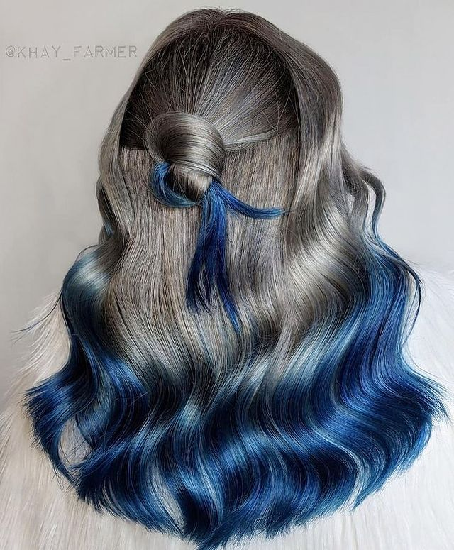 Blue and Gray Ombre