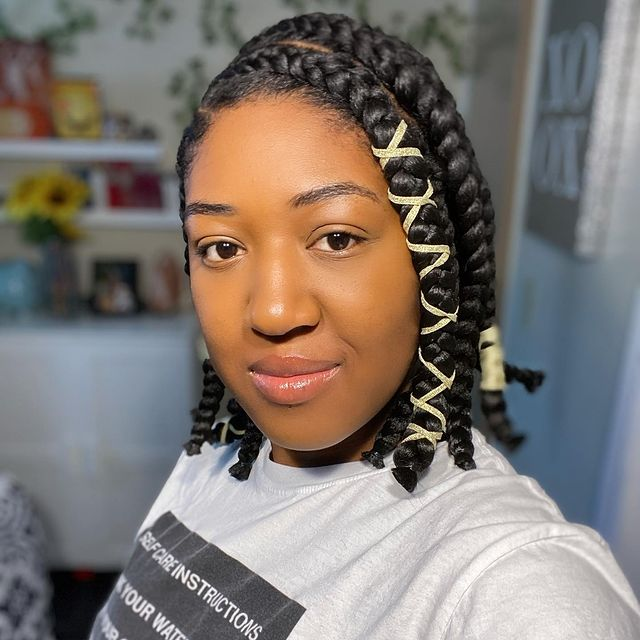 Charming Feed-In Braids with Lace Accents