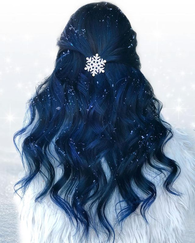 Dashing Dark Blue Hair with Black Undertones