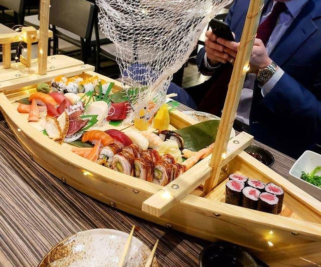 A Unique Sushi Serving Platter