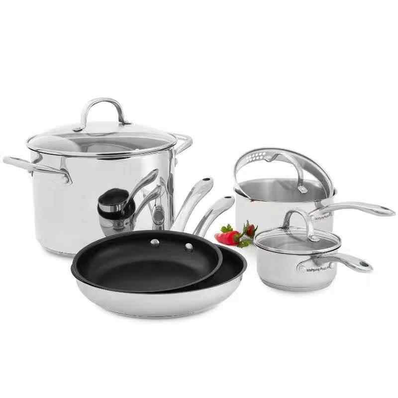 An 18 Piece Cookware Set