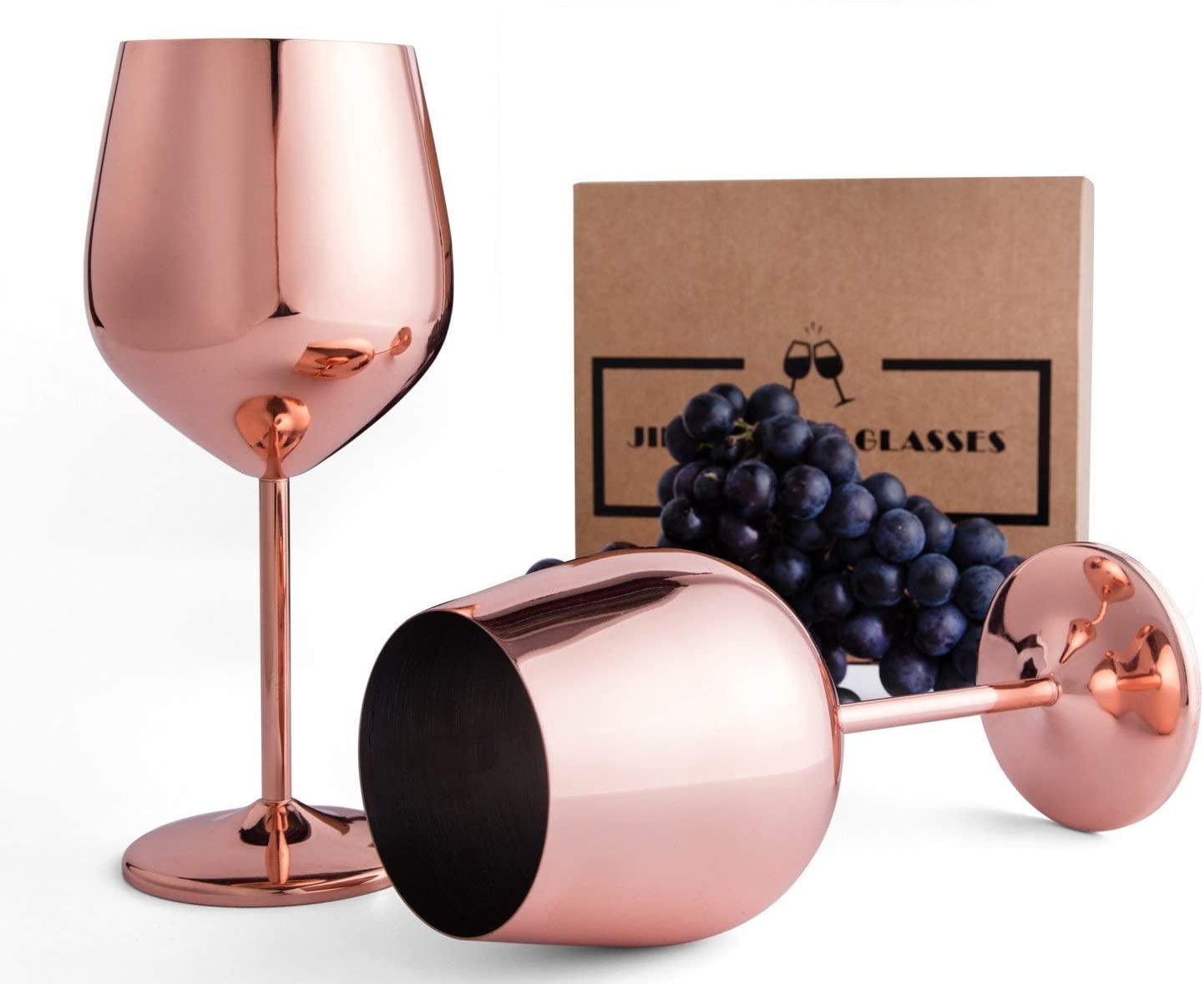 2 Unbreakable Wine Glasses