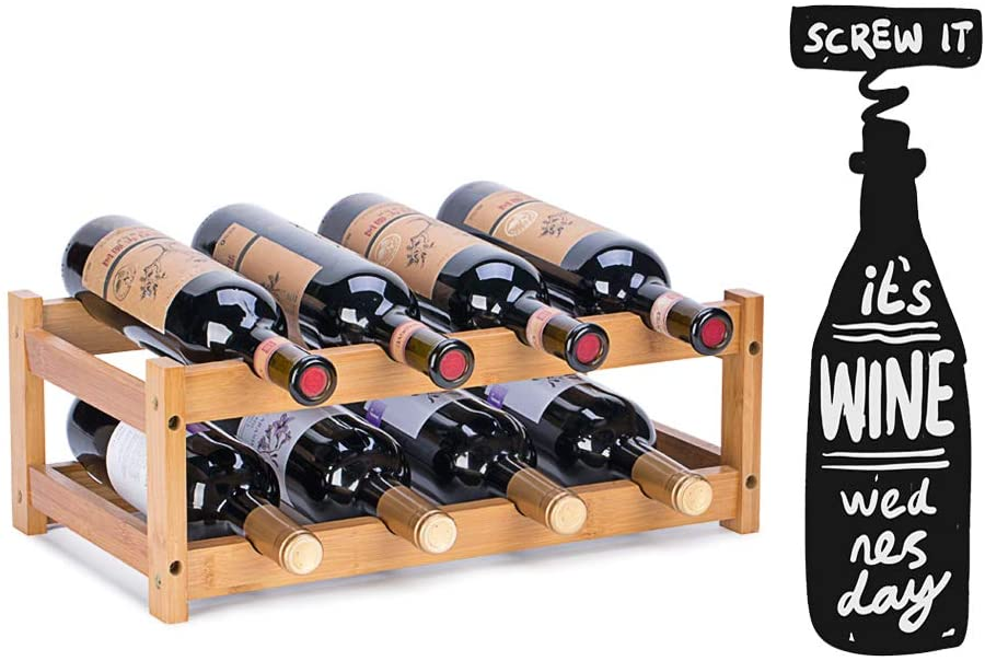 A Bamboo Wine Rack